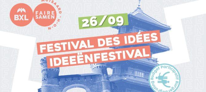Participez au festival des idées le samedi 26 Septembre.