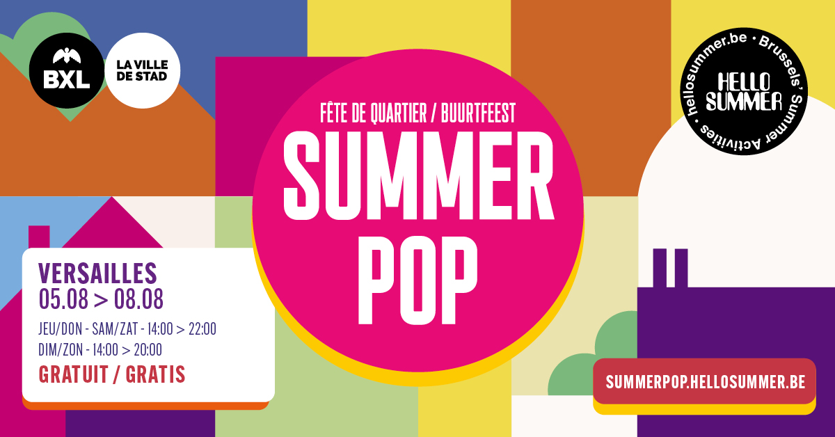 Du 5 au 8 août, Summer Pop à Versailles !
